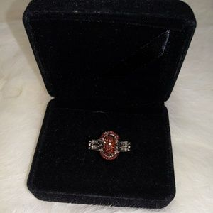 Jewelry - diamond ring (100% natural champagne diamonds)
